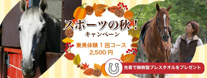 【終了】スポーツの秋!乗馬キャンペーン!11/11まで開催